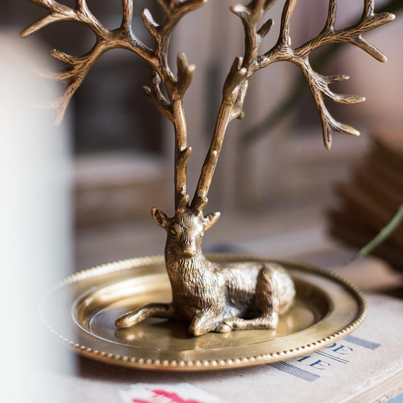 Décorations de bureau en bois de laiton décorations de table Vintage Art déco