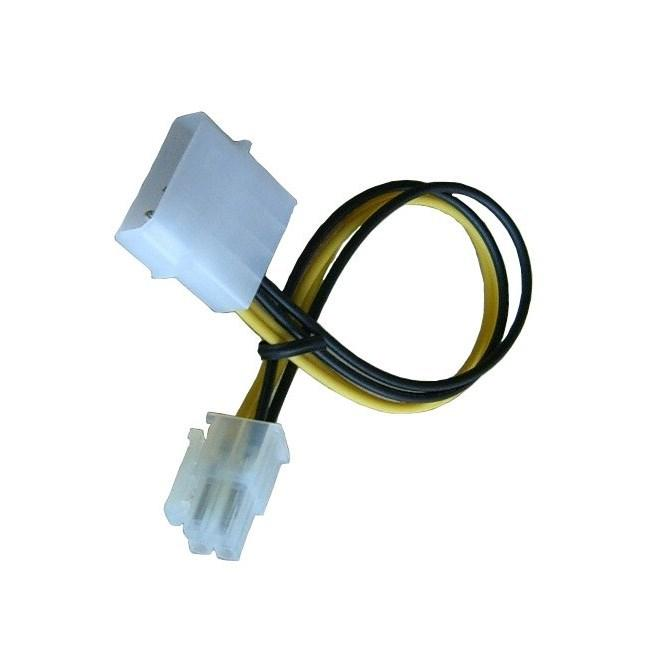 Molex to P4 CPU Power Adapter , easy way to add a P4 power connector to AMD and Intel Motherboards