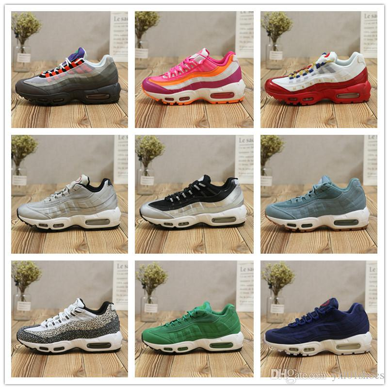 2018 New Arrival 95 Classic Comfortable Running Shoes 95s Casual Basketball shoes for Good quality Black White Green Sports shoes EUR 36-44 popular cheap price footlocker for sale jxWNIYw