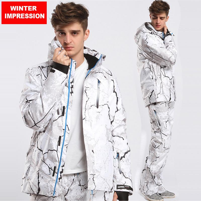 7b4a5c4884 2019 Winter Impression New Style Men Ski Suit Super Warm Clothing Skiing  Snowboard Suit Set Windproof Waterproof Outdoor Sport Wear From Masn