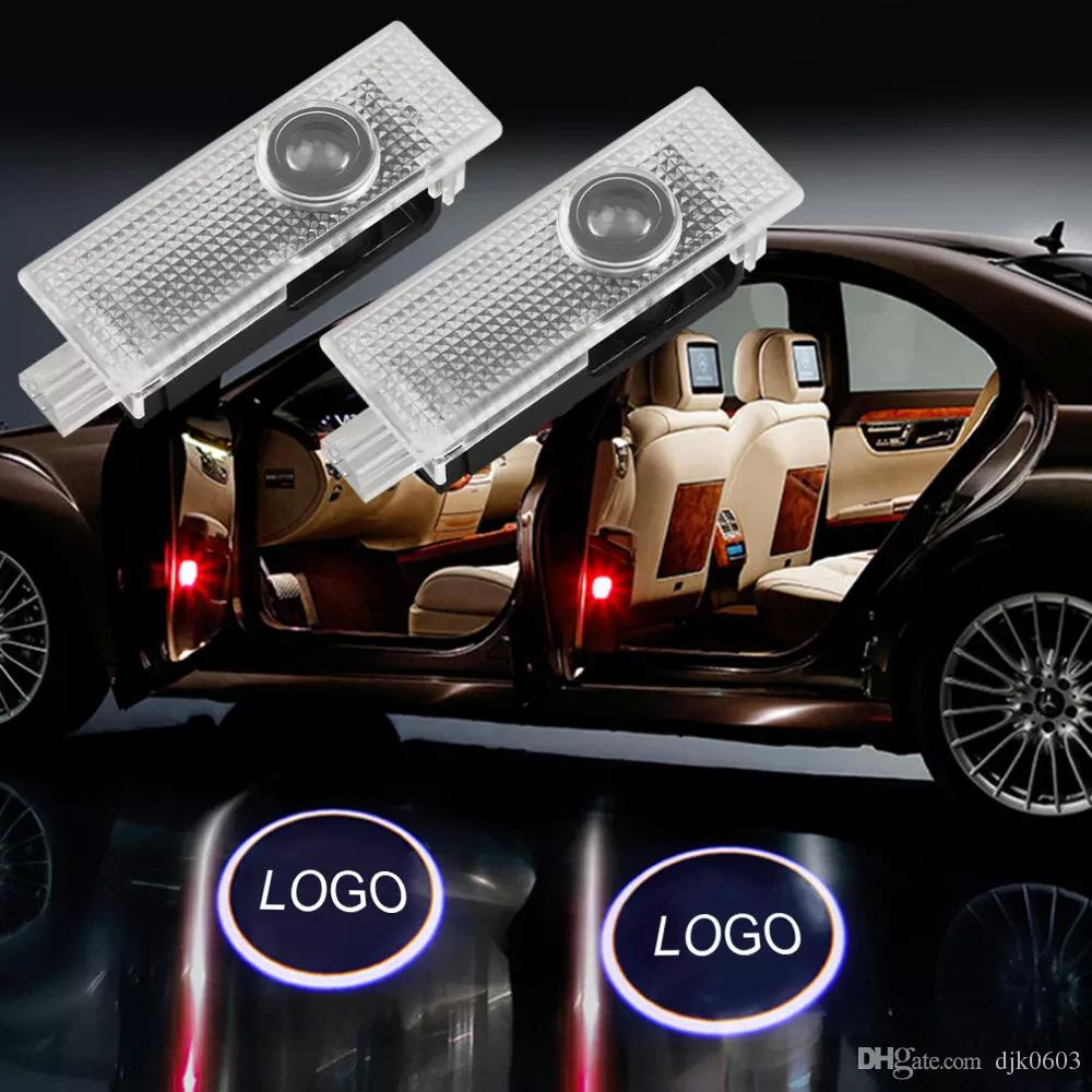 ANKIA 2 Pcs Car Door LED Logo Light Laser Projector Lights Ghost Shadow Welcome Lamp Courtesy Light