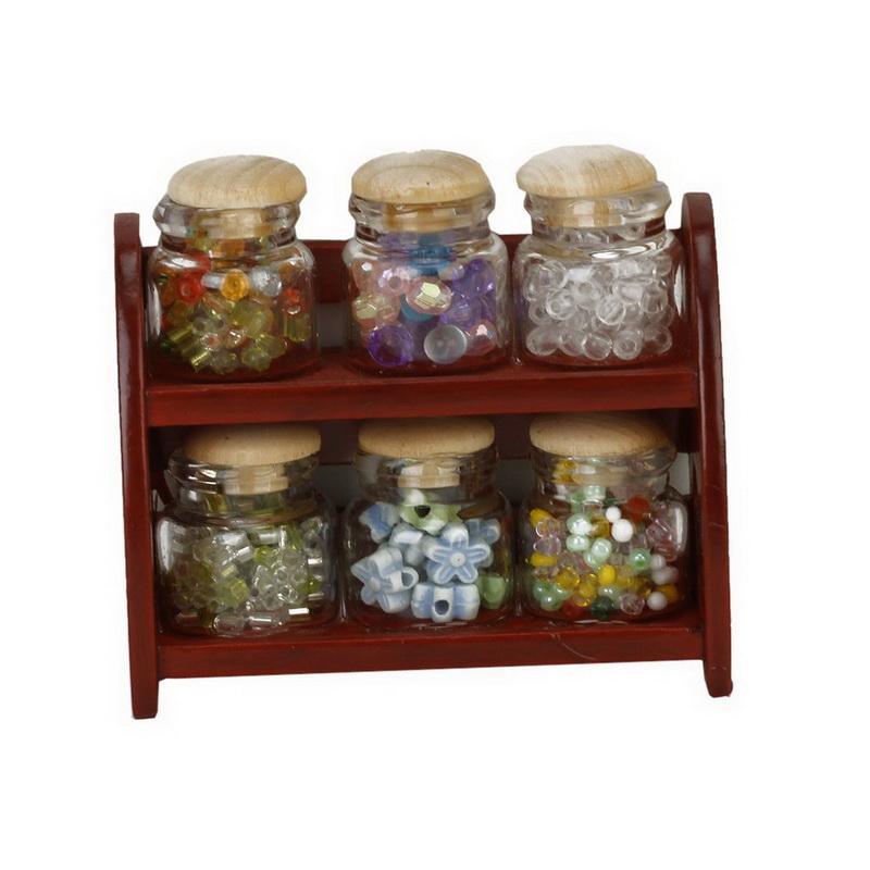 Glass Spice Pot Bottle Jars Rack 112