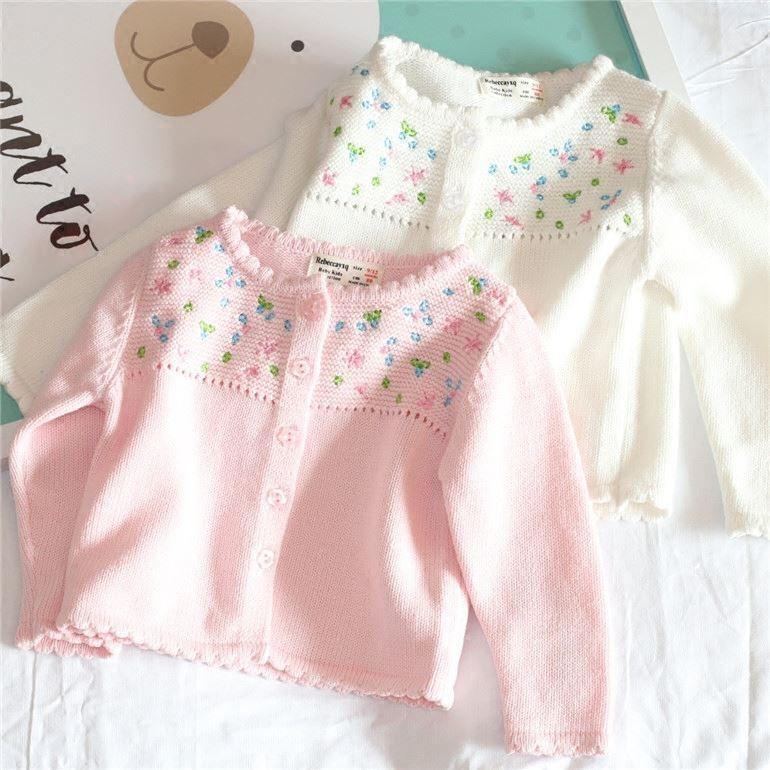 aec8e4ed2991 Girls Sweater 2018 Baby Cardigan Flowers Long Sleeve Winter Cardigan ...