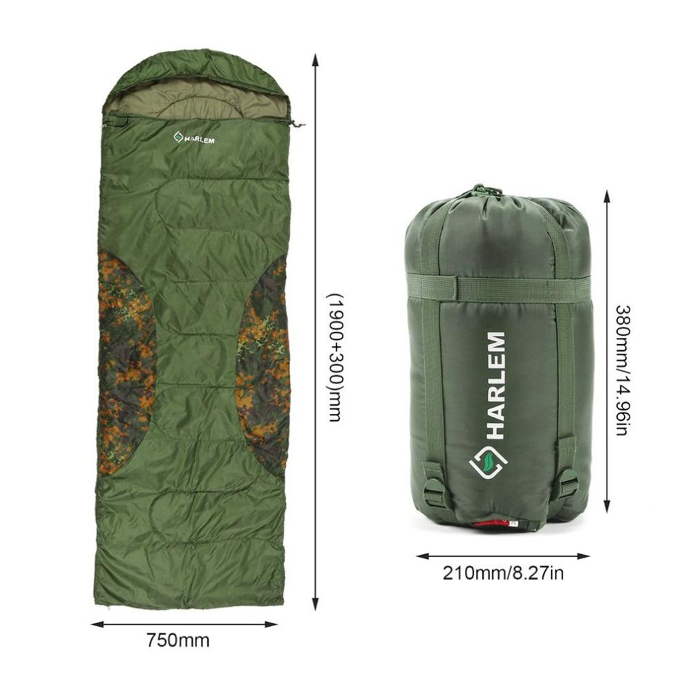 new arrival 8c1c4 63863 Harlem Ultra-light Outdoor Envelope Sleeping Bag Portable Warm Cozy Camping  Hiking Hooded Sleeping Bags HS235 Hot