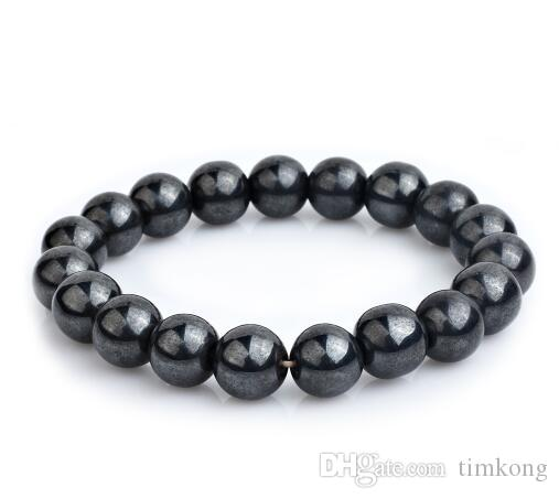 2018 new New arrival Magnetic Hematite Fashion Pain Hematite Stone Therapy Health Care Magnet Hematite Beads Bracelet Men's Jewelry