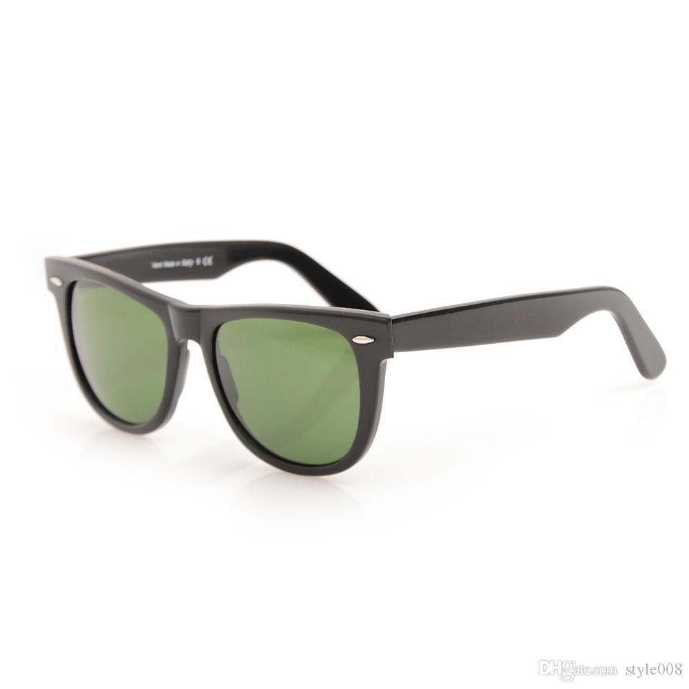 Compre Alta Qualidade Óculos De Sol Prancha De Vidro Lente Moldura Preta  Lente Verde Óculos De Sol Óculos De Sol Raio De Metal Dobradiça Unisex  Óculos De ... 7a5a8b0b54