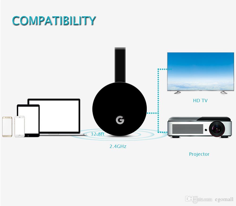 WECAST E68 TV Stick Support Chromecast لـ Netflix YouTube Mirroring بواسطة Google Home Miracast Adapter البث البث HDMI Wifi