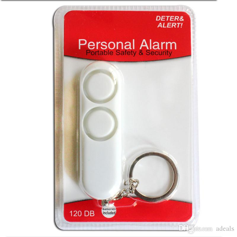 Self-Defense Safety Alarm 120dB Dual Siren Personal Security Alert With Keychain Keychain Personal Alarm Safety Kit