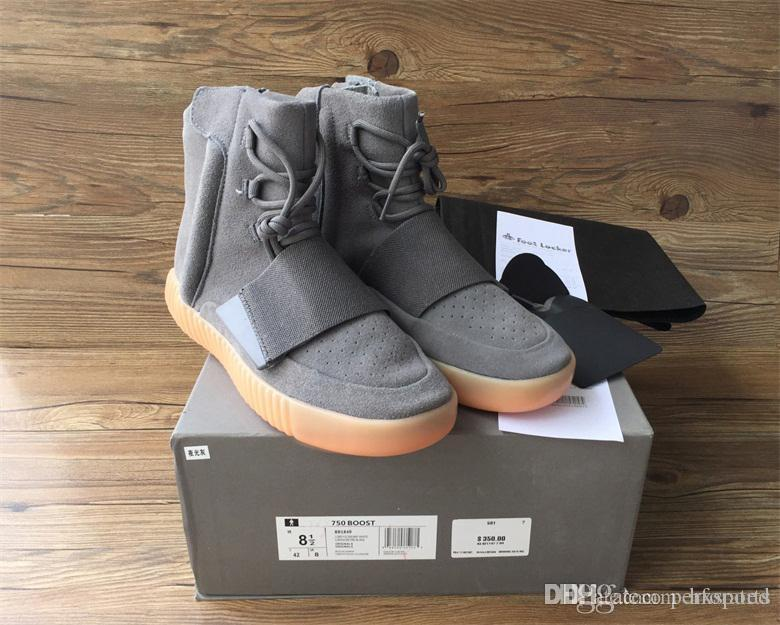 4b88cf264260 2018 750 Light Grey Glow In The Dark Kanye West Leather Boots Men ...