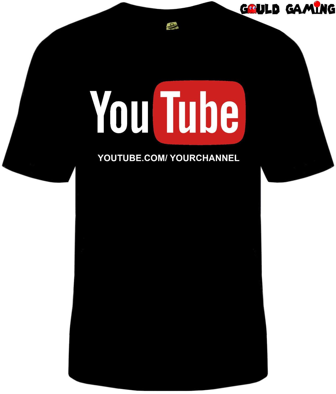 716176b0393 Customized YouTube Channel URL T Shirt Unisex Adult Funny Sizes Personalized  New It Tee Shirts As T Shirt From Banwanyue9
