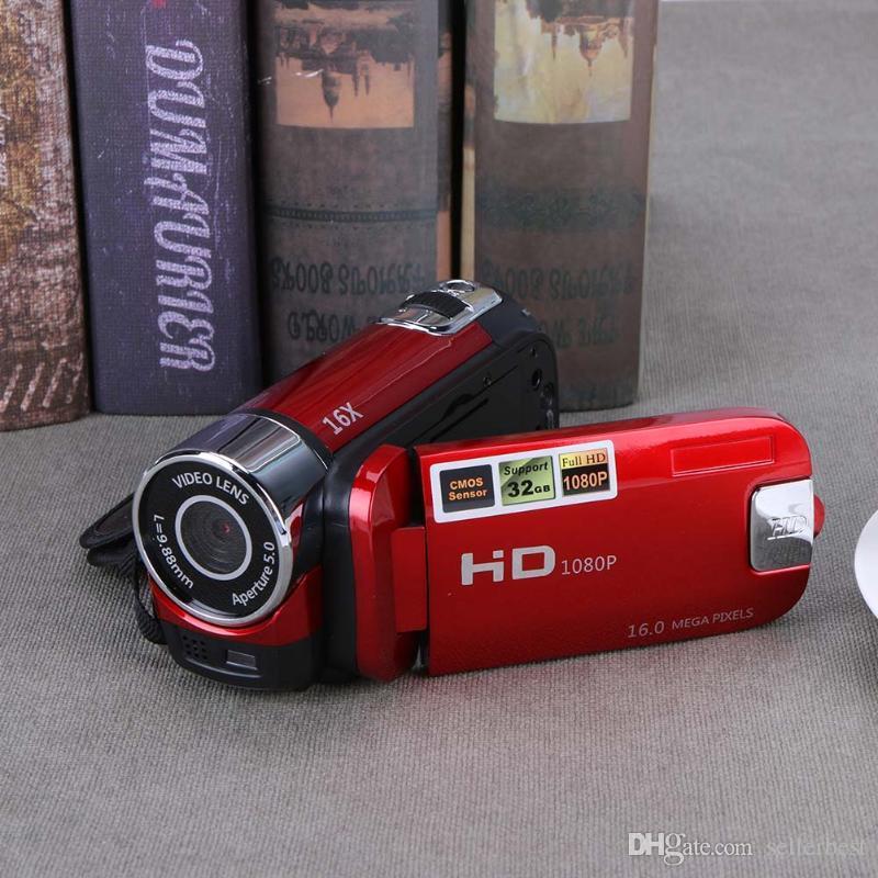 ALLOYSEED Dijital Video Kamera Full HD 1080 P 32 GB 16x Zoom Mini Kamera DV Kamera Desteği AVI 1080 P 720 P VGA için SD / HCSD 32G