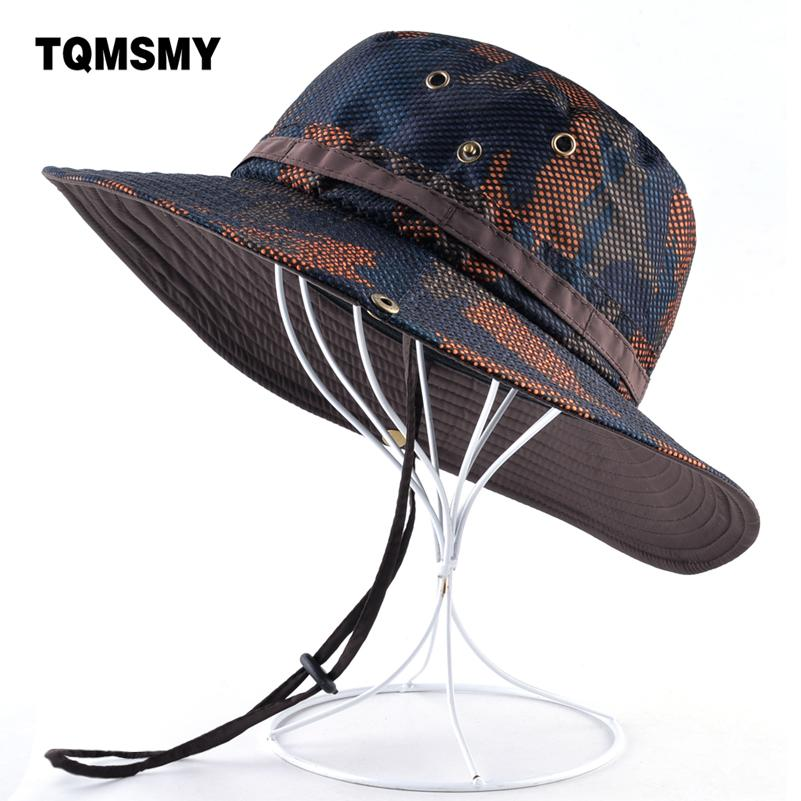 ba273117d8e TQMSMY Camouflage Hat Men Outdoor Fishing Cap Wide Brim Anti-UV Caps for  Women Sun Hats Summer Quick Dry Mesh Hat Gorro Bone Wide Brim Cap Wide Brim  Sun ...