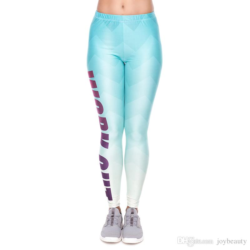 def95564102a0 2019 Lady Leggings Work Out Zig Zag 3D Print Women Stretchy Yoga Wear Pants  Gym Fitness Girls Workout Full Length Soft Trousers YX34263 From Joybeauty,  ...
