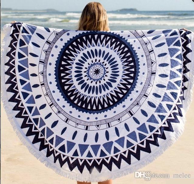 INS 40 diseños elegir Ronda libre Donut Pizza hamburguesa Toalla Beach Cover Ups mujer Toalla de playa Gasa traje de baño Cover Up Yoga Mat Dim150cm