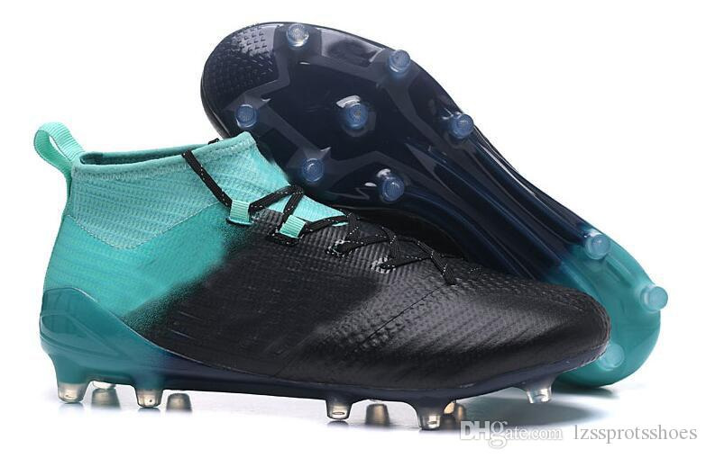 Original Laceless High Ankle Football Boots ACE 17 Purecontrol FG Soccer Shoes Mens Indoor ACE Tango 17 Pure Control TF IC Soccer Cleats