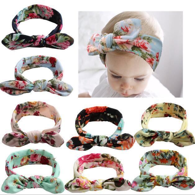 Xmas Bohemian Cotton Girl Baby Bow Headband Wave Point Turban Twist ... 4e7f6600e3c4