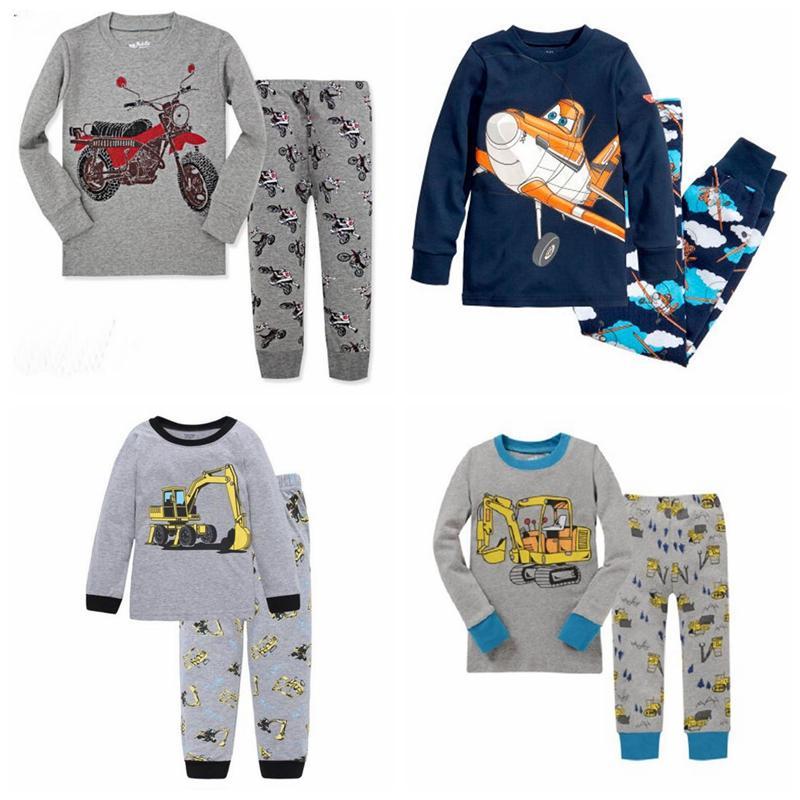 478ddfe8e7c1 Christmas Kids Pyjamas Set Boy excavator printing Cotton Long Sleeve  Tops+Pants Nightwear Sleepwear 2pcs Boys Pajamas Outfits
