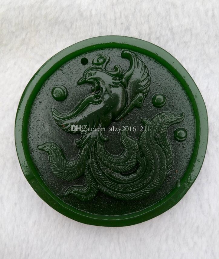 China xinjiang hotan jade phoenix paz colgante con envío gratis A0