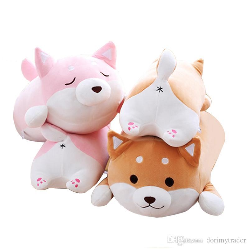 2019 Dorimytrader Big Lying Animal Akita Plush Toy Stuffed Cartoon