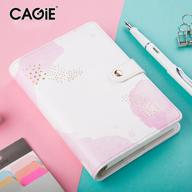 2018 cute notebook cagie kawaii diary a6 planner ring binder spiral