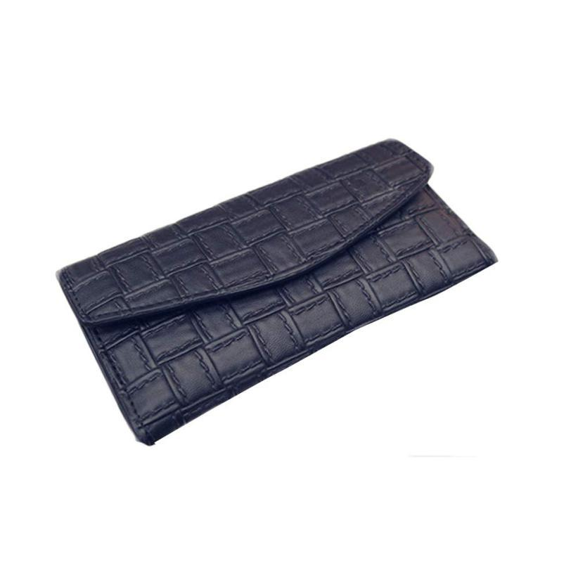 Xiniu New Fashion Lady Women Weave Leather Clutch Wallet Long Card Holder  Case Purse Handbag Standard Wallets Long Hasp Solid Ladies Leather Wallets  Front ... 9ba7da2c44
