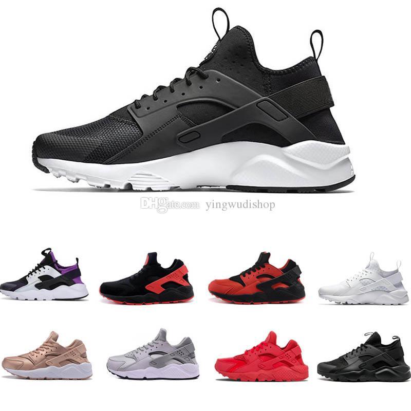 huge discount 5023e 5cb62 Compre Venta Caliente Huarache Ultra Run Shoes Triple Blanco Negro Hombres  Mujeres Zapatos Corrientes Rojo Gris Huaraches Zapatillas De Deporte  Zapatillas ...