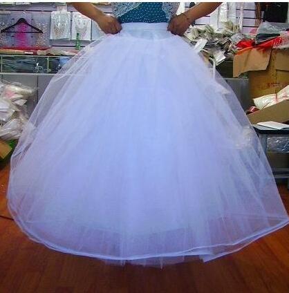 Lindo vestido de noiva anáguas anáguas Underskirt forrado para vestido e vestidos com aro