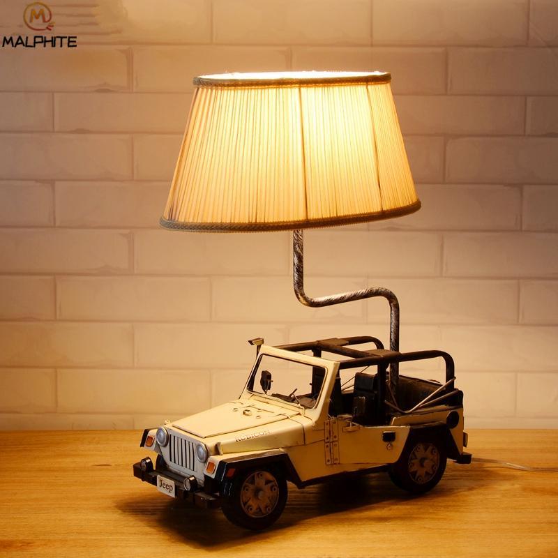 2019 Modern Wooden Retro Car Suv Table Lamp For Children Bedroom ...