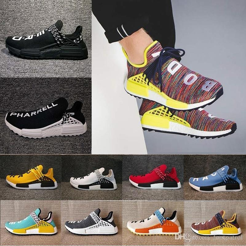 20ae7b803c9c1 2019 Friends And Family Human Race Factory Real Runner Pharrell Williams Hu  TR Running Shoes Men Women Shoes Size From Footpatrol