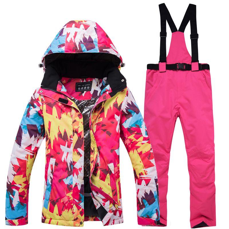 7ac145027 2019 Women Snow Suits Ski Suits Women Snowboard Pants Ski Broke ...