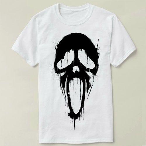 ac5d0de1cf86 Ghostface Scream Summer Fashion Men S T Shirt Casual Short Sleeve T Shirt  Mens Clothes Trend Casual Slim Fit Hip Hop Top Crazy T Shirts Online Cool  Looking ...