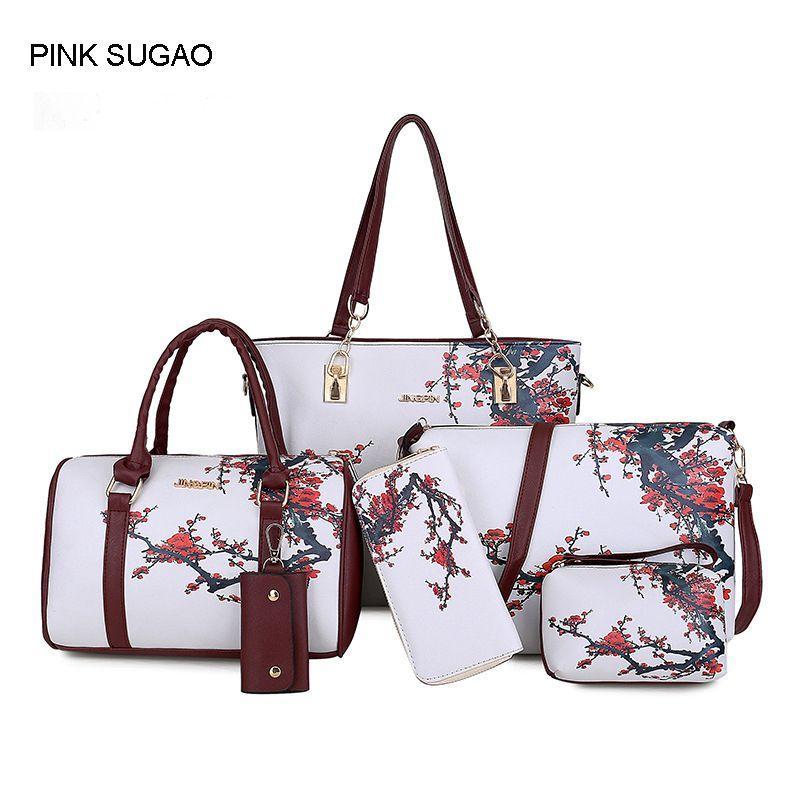 Pink Sugao Handbag Set Print Large Lady Women Designer Bag 2018 New Style  Sac À Main Tote Bag Crossbody Shoulder Bag Purse Wallet Fiorelli Handbags  Ladies ... c5dee00e20cfc