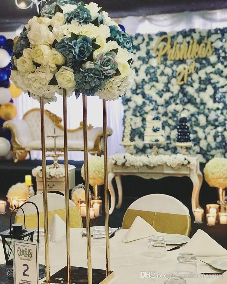 Grosshandel New Rectangle Stand Metall Blumenstander Rahmen Hochzeit