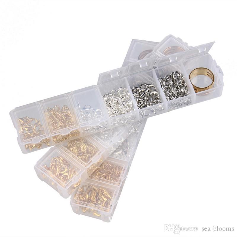 3 risultati dei monili di risultati Accessori Kit Box Set Catenacci aragoste Anelli di salto gioielli fai da te Strumenti di fabbricazione DHL libero G371S