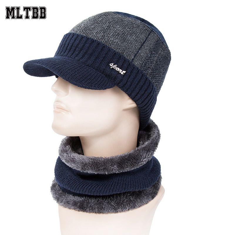 ae23f6dd32d1 MLTBB Sombreros de invierno Skullies Gorros Sombrero Gorros de invierno  para hombres Mujeres Bufanda de lana Gorros Máscara de pasamontañas Gorras  ...