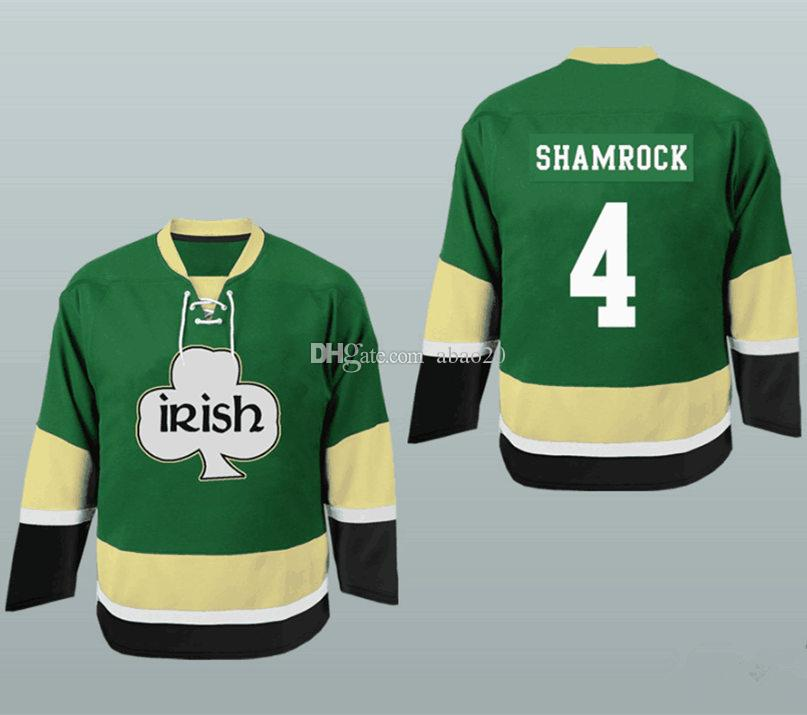 f6f60cee3 St. Patrick's Day Irish Shamrock Pubcrawler Hockey Jersey Men's Embroidery  Stitched Customize any number and name Jerseys