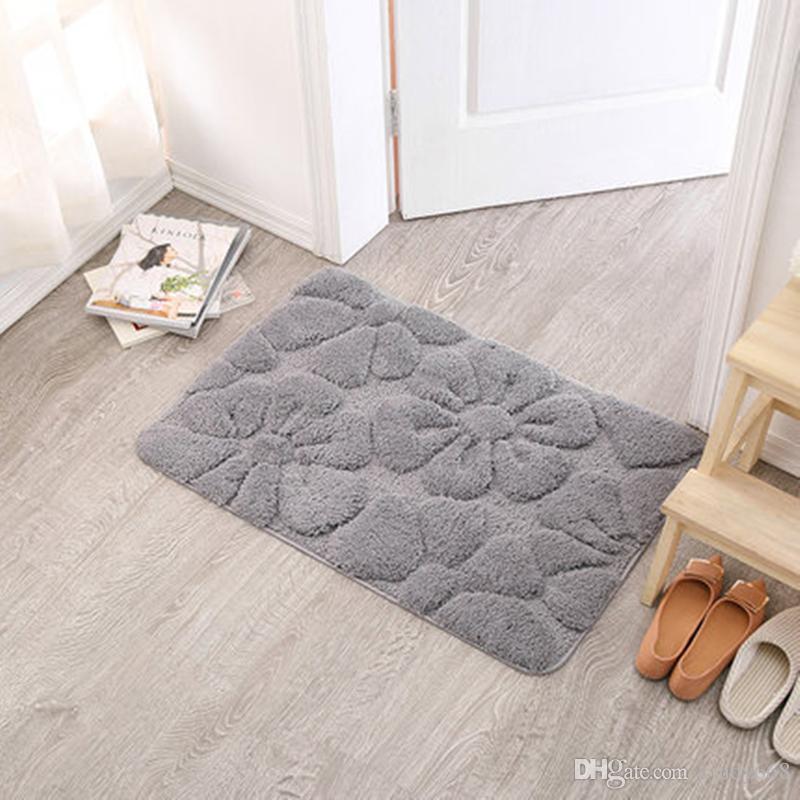 2018 new modern bath mats for decor bathroom rug doormat absorbent washable non slip bath matsfloor carpet high quality toilet rug decoration from cindy668 - Bathroom Mats
