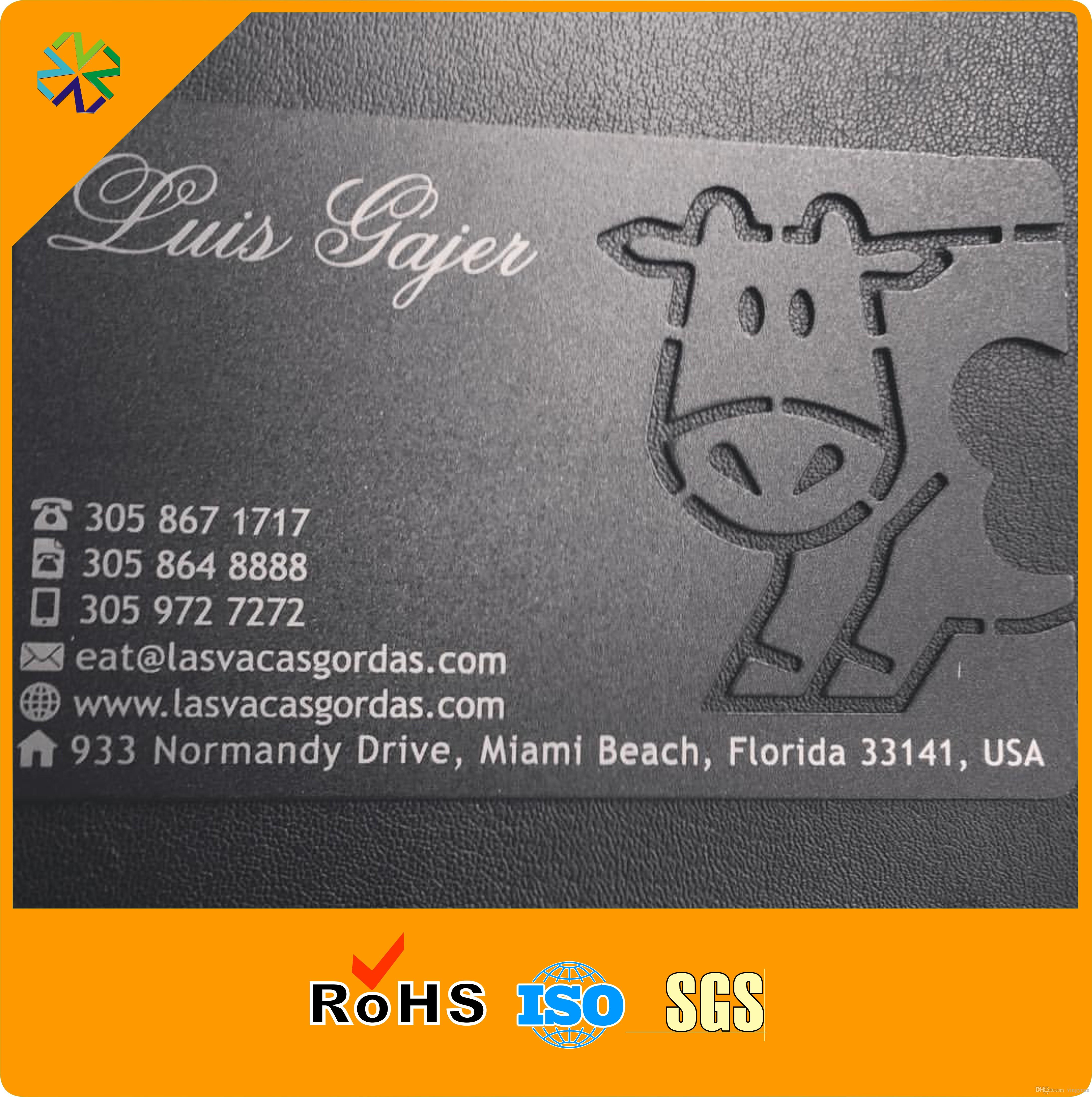 Luxury Metal Visiting Steel Business Card,cut out Metal Business ...