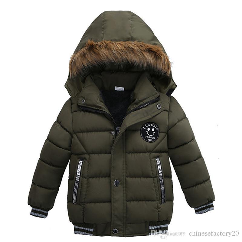 Erkekler Kış Ceketler Kore Kalın Kapşonlu Pamuk yastıklı Çocuk Moda Casual Fermuar Sıcak Erkek giyim Dış Giyim