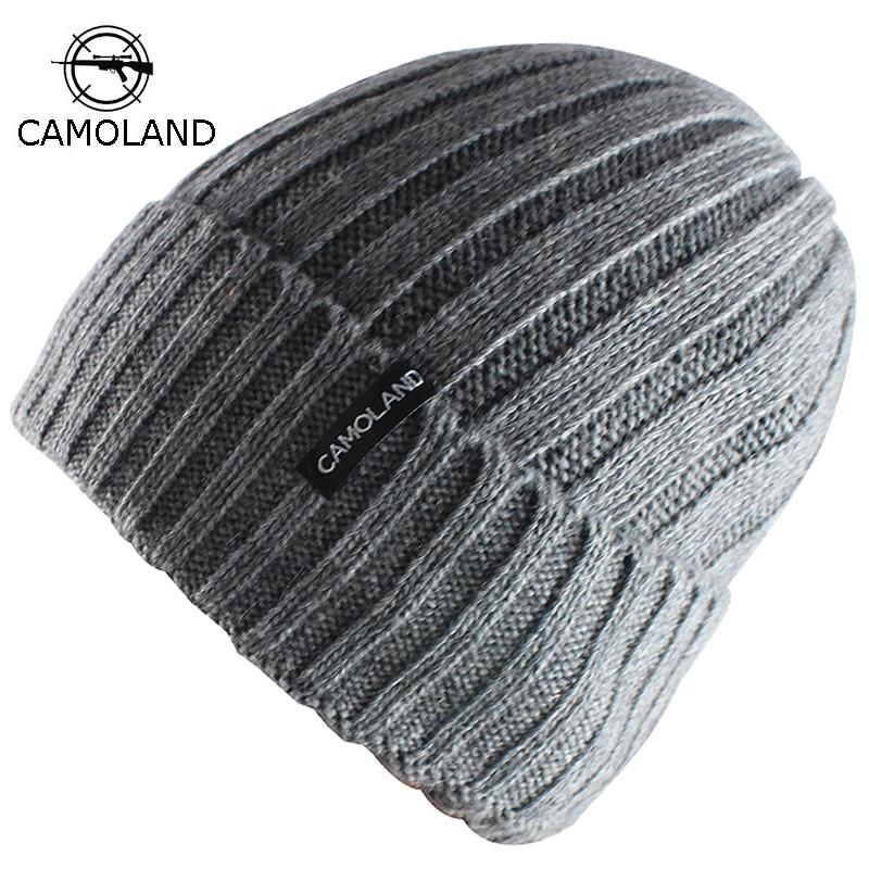 4ec5f32c5d75 Gorros de lana de punto para hombre Sombreros de invierno Gorros Skullies  Bonnet Sombreros de invierno para hombres Mujeres Beanie Baggy caliente ...