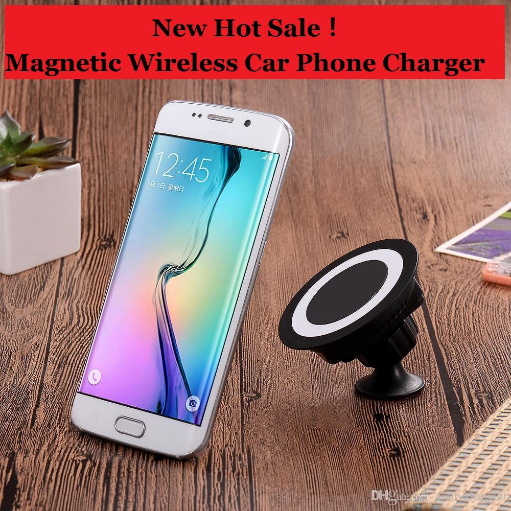 buy popular 862ad d22a3 Wireless Charger Car Mount,Magnetic Vehicle Mount Phone Holder Air Vent or  Dashboard for iPhone X/iPhone 8 Plus/ iPhone 8/ Samsung More