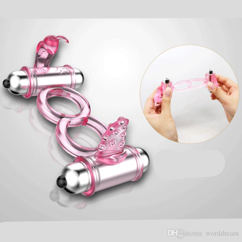 10 Speed Vibrating Cock Ring Penis Rings Clitoris Stimulator Rabbit Tongue Vibrator In Adult Games For Couples Sex Toys For Men