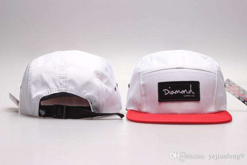 2017 precio de descuento DIAMOND 5 Panel Sombreros Snapback Pierce Caps Ajustable BaSeball Snap Back Snapbacks Jugadores Deportes envío gratis
