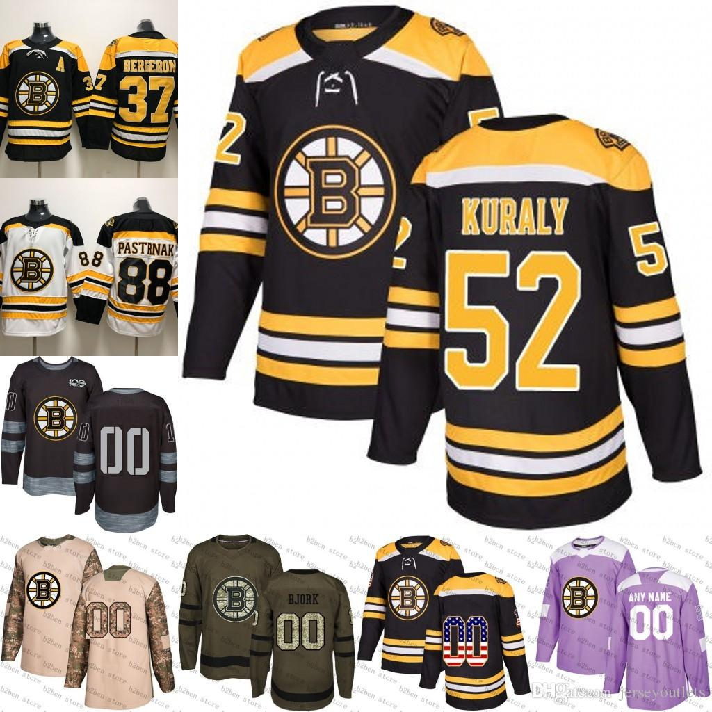 ... buy 2018 2018 2019 mens boston bruins 52 sean kuraly ice hockey jersey  purple black white feffbacb9