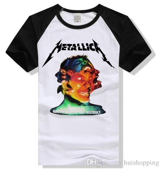 2018 Full Cotton Metallica Tee Hardwired To Self Destruct Casual ...
