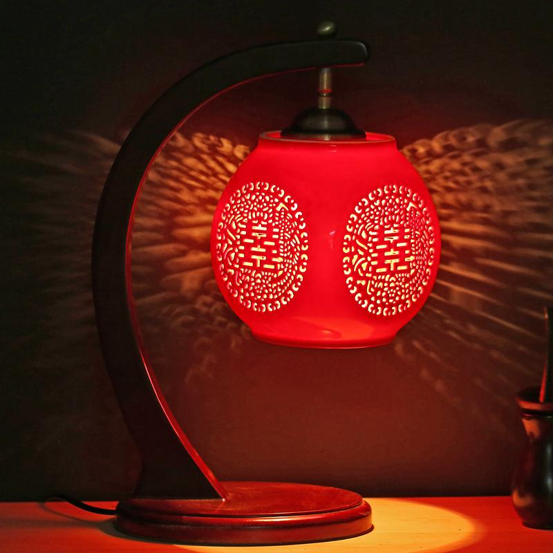 2018 Ceramic Lamp Red Bedroom Bedside Lamp Wedding Gift Chinese Style  Vintage Lamps From Lightlight, $239.6 | Dhgate.Com