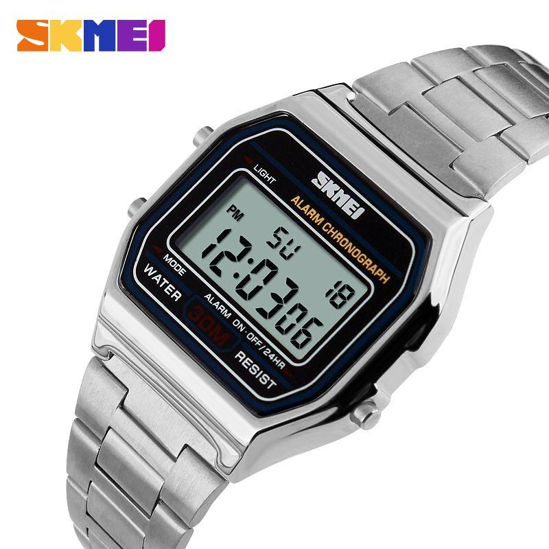 6cc8c2a4abf SKMEI Hot Men LED Digital Watch Fashion Casual Sport Business Watch Men S  Relogio Masculino Relojes Stainless Steel Military Waterproof Watc Digital  Wrist ...