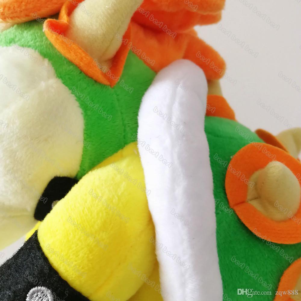 도매 25cm Bowser Koopa 플러시 어린이 선물을위한 완구 장난감