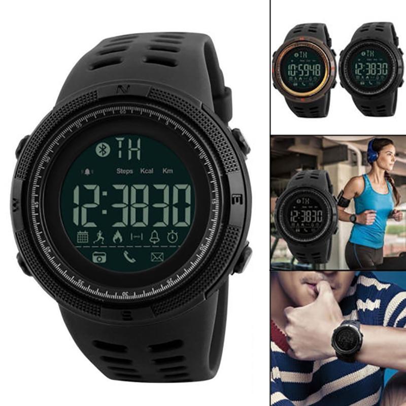 Sport & Unterhaltung Unisex Casual Wasserdichte Runde Form Schnalle Verschluss Bluetooth Smart Uhr Fitness & Bodybuilding