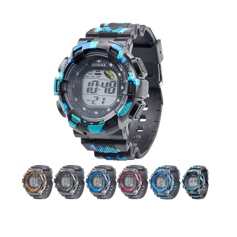 bd9189f4aa84 Compre Relojes Moda Para Hombre Alarma Digital Reloj De Caucho Militar Del  Ejército Impermeable Deporte Reloj LED Relogio Masculino Reloj Venta  Caliente ...